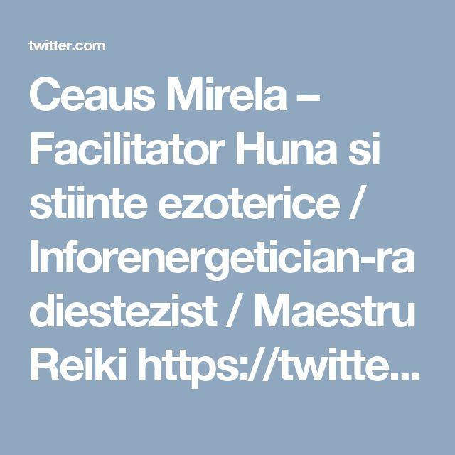 Ceaus Mirela – Facilitator Huna si stiinte ezoterice / Inforenergetician-radiestezist / Maestru Reiki https://twitter.com/terapeuti/status/690130563483701249