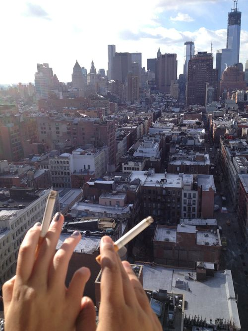 narobe:  sca-rs:  sca-rs:  my view micki and i chilling ;)  My view ;) smoking with my homie mickiiii  perfect omg