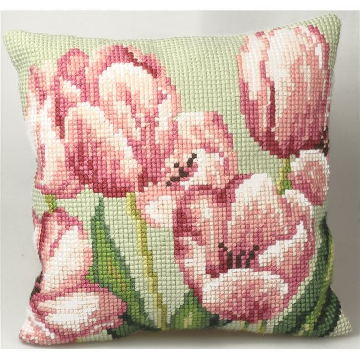 Collection d'Art:5.070 - Tulipe a Droite  http://www.luciatapestrieswoolcrafts.com.au/buy-online/CUSHION-KITS/index.asp?Start=4