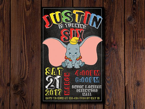 Dumbo Birthday Chalkboard  Dumbo Birthday Sign  Dumbo