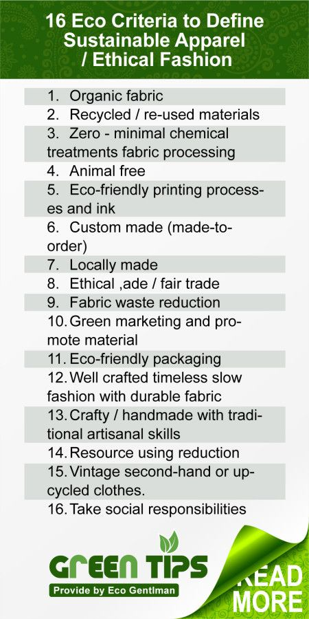 This infographic will help you to define the sustainable/ethical fashion. It can be used as a checklist for ethical shopping!