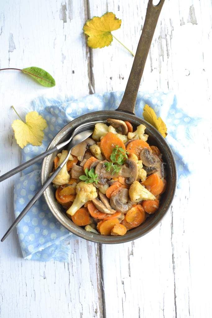Poêlée de champignons et petits légumes au cidre {...et ...
