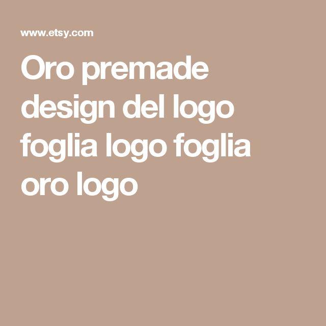 Oro premade design del logo foglia logo foglia oro logo