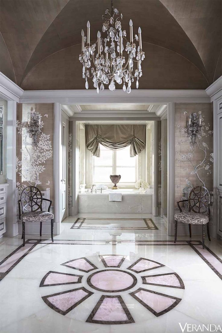 Bathrooms  Veranda July August 2015  Designer  J  Randall Powers. 190 best Bathrooms images on Pinterest   Architectural digest