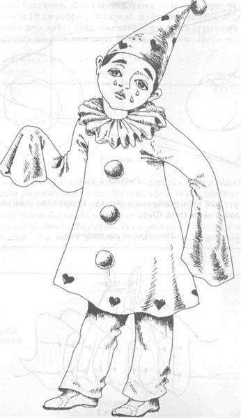 Новогодний костюм пьеро выкройки