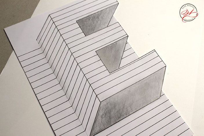 3d Zeichnen Stufiges Loch Geniales Geschenk Kreativraum24