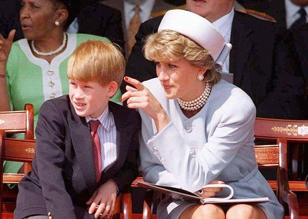 Princess Diana pictured with Harry. The rumour that Hewitt is Prince Harry's father - and not Prince Charles - dogged Diana's life