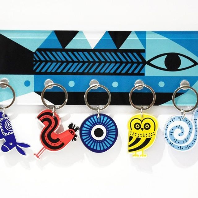#graciousgreece #summer #collection #love #greece #madeingreece #greekdesigners #like and #follow our #work #design #graphicdesign #screenprint #acrylic #plexiglass #keyholder #ink #colors #blue #black #white #red #yellow #decorative #fish #keyholder #interior #creation #gift #photooftheday #handmade