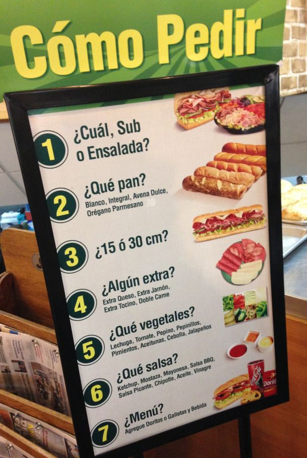 Subway in Spanish