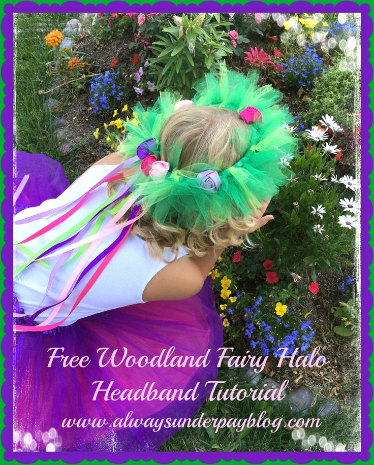 Woodland Fairy Halo Headband Tutu Tulle Rosette Flower