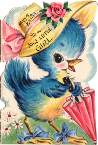 Bluebird Easter card