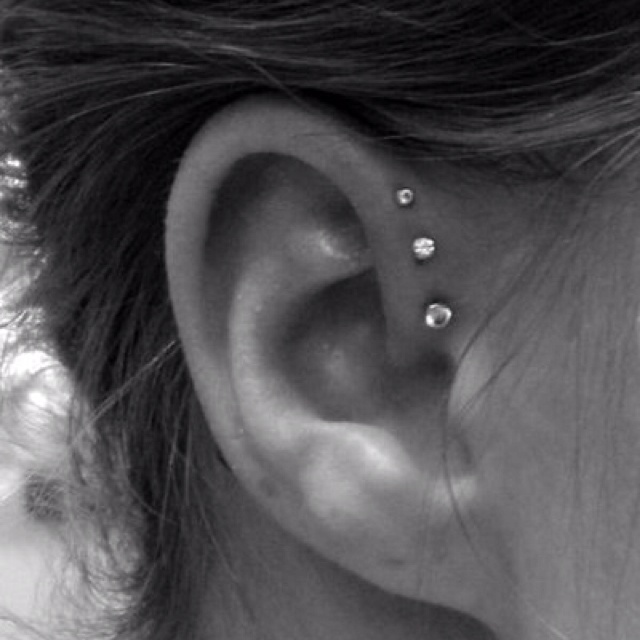 I want this: Forward Helix Piercing, Idea, Style, So Cute, Triplehelix, Triple Helix, I Want This, Triple Forward Helix, Ears Piercing