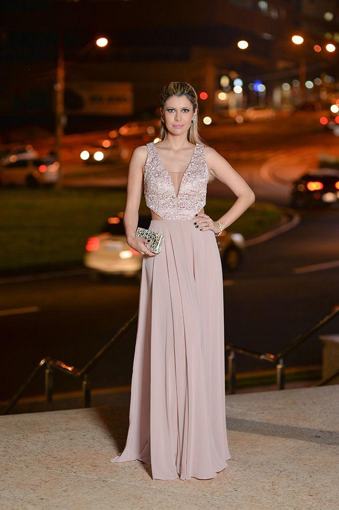 vestido de festa rosa 2015