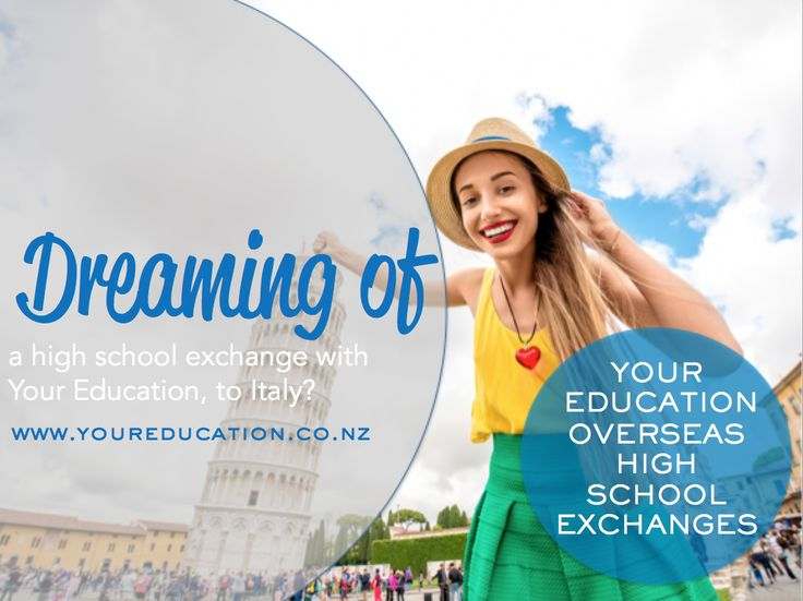 Are you dreaming of going to Italy on a high school exchange? Let Your Education make it a reality.
