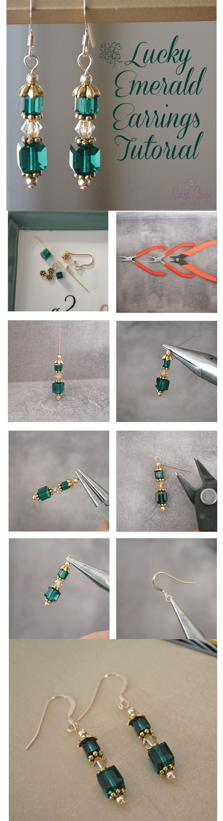 Beautiful emerald earrings for spring!