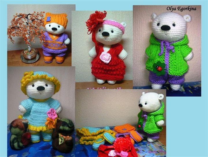 Amigurumi Bears  Free pattern translated from Russian