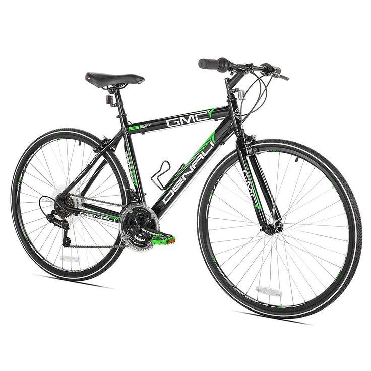 Men's GMC Medium Frame 700c Denali Flat Bar Road Bike, Black