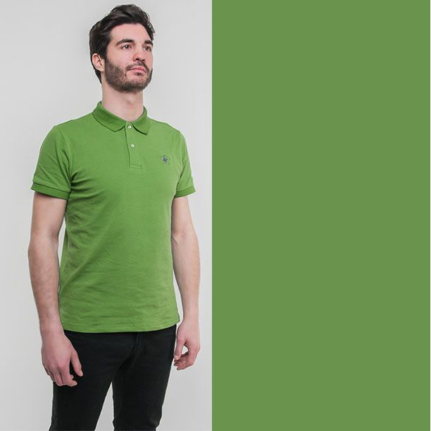 Amazing green pistachio polo shirt by Beverly Hills Polo Club