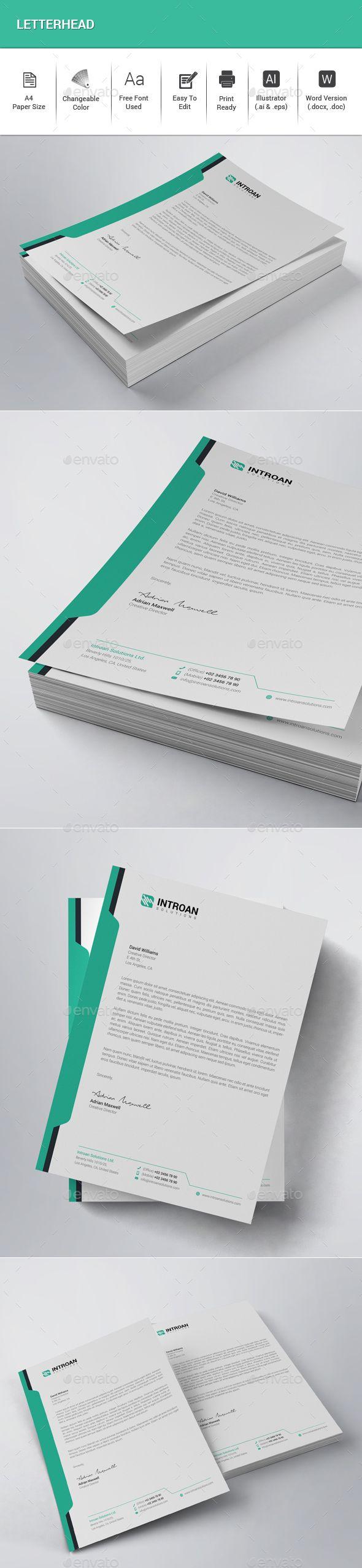 #Letterhead - Stationery Print Templates