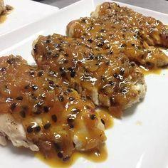 Pechugas de pollo en salsa de Maracuyá