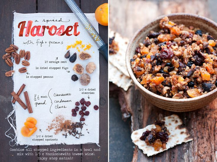 Spiced Charoset  with figs and pecans: recipe at The Forest Feast