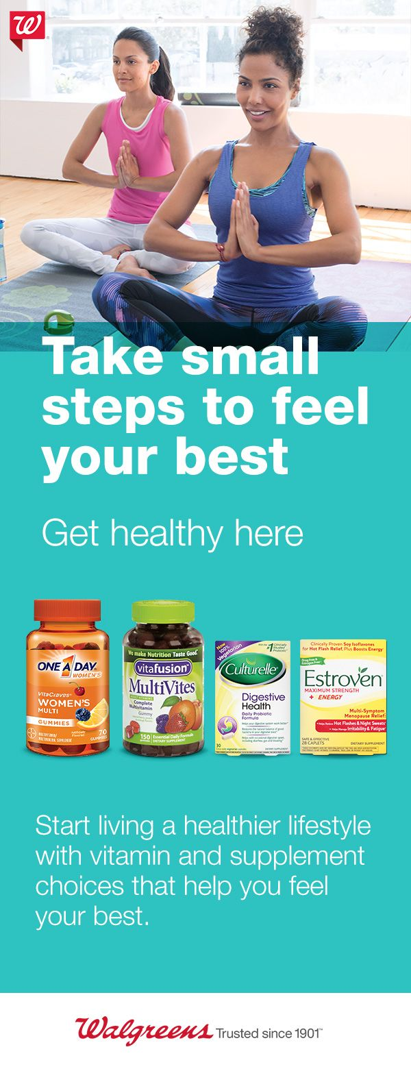 Learn how you can take small steps to feel your best with our variety of vitamins and supplements.