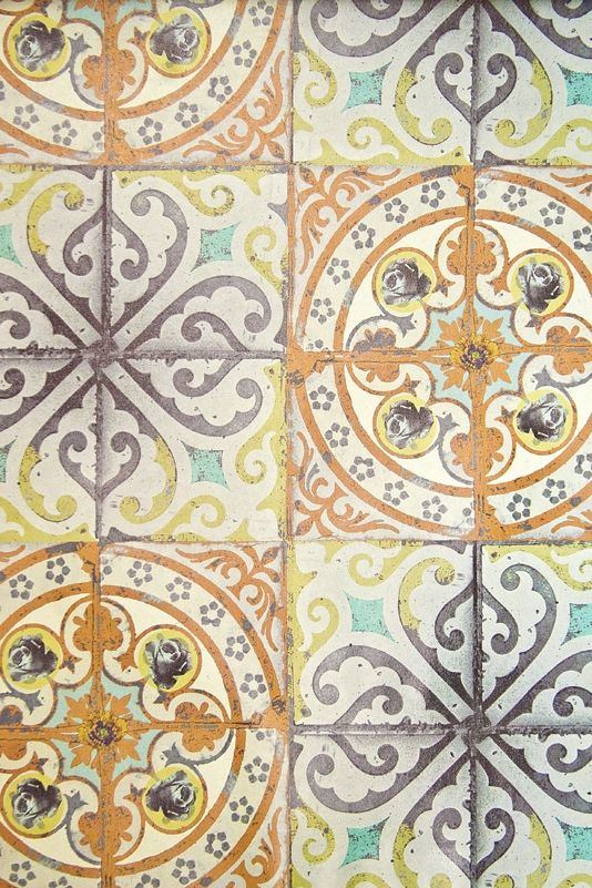 A stunning tile effect wallpaper, will create an instant feature to any bland living space.