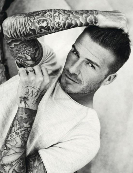 tattoo: Eye Candy, Sexy, Tattoo Sleeve, Tattoo People, David Beckham Tattoo, Full Sleeve, Beautiful People, Davidbeckham, Celebrity Tattoo