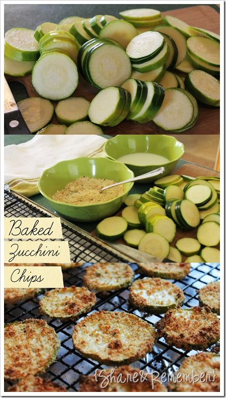 Baked Zucchini Chips | Yummy Recipes!! | Pinterest