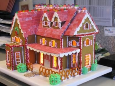 Big gingerbread house