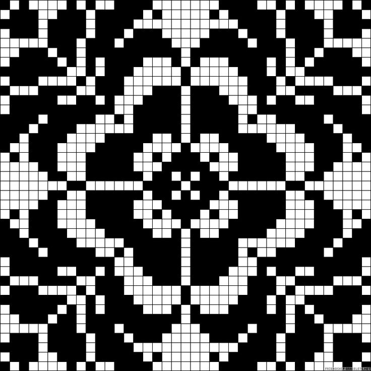 Flower design perler bead pattern