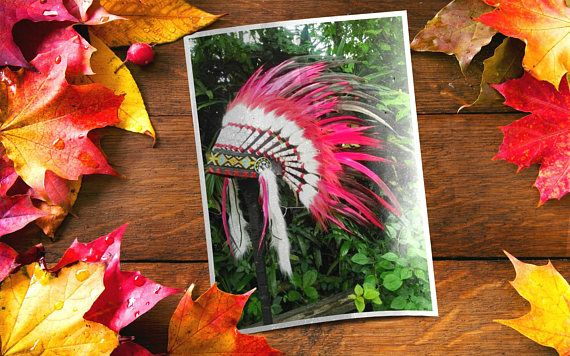 Native American inspired Headdress Indian style Warbonnet
