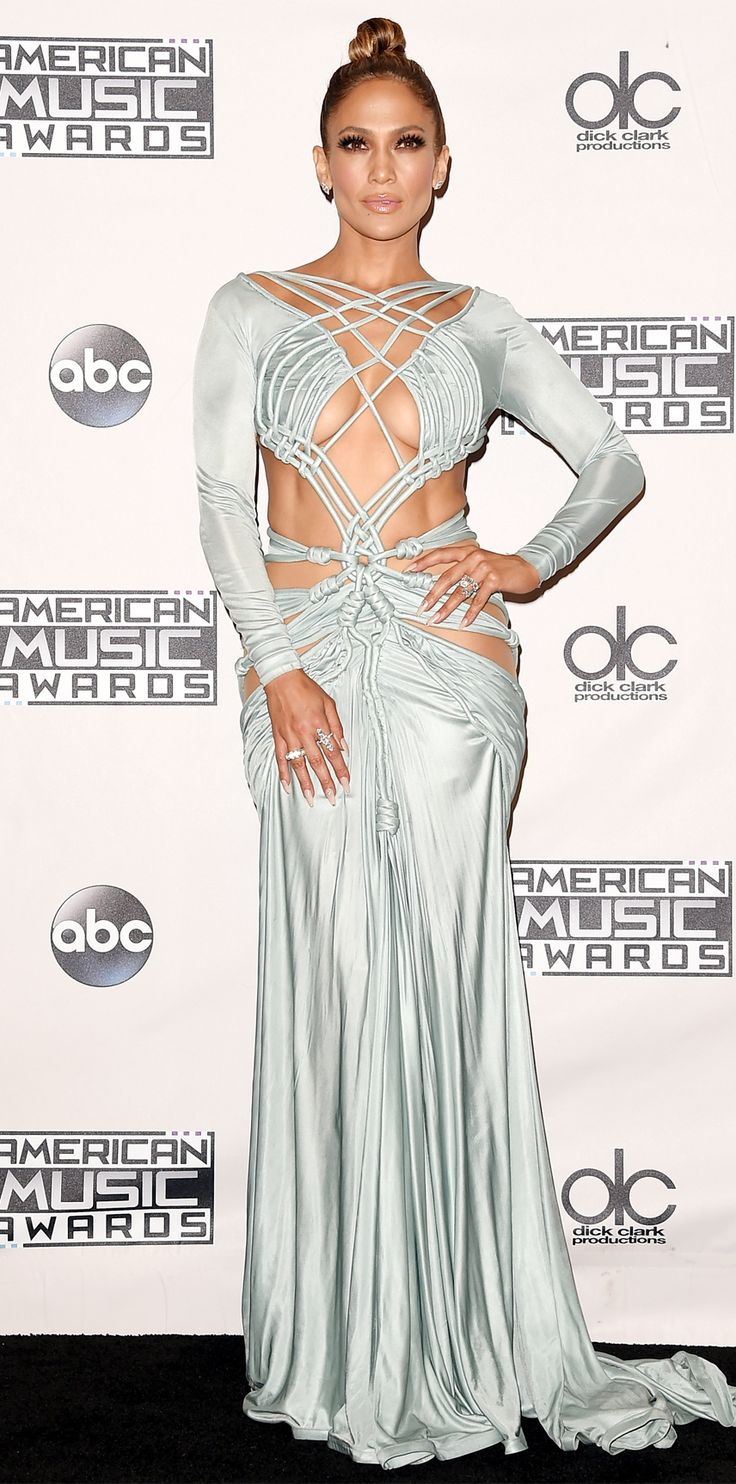 See All 10 of Jennifer Lopez's Amazing Ensembles from the 2015 AMAs - Grand Finale  - from InStyle.com
