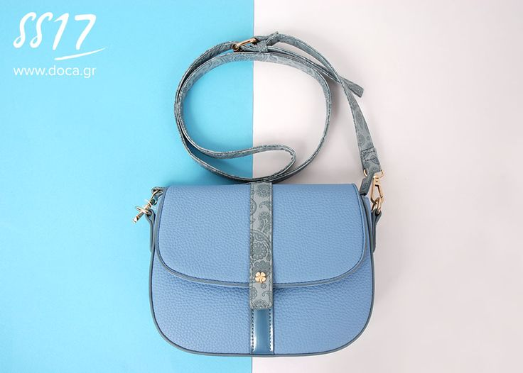 Sea breeze! Pastel Fever... The favorite spring trend in your guarderobe.   Explore the new DOCA Spring-Summer Collection instore or online at www.doca.gr    #doca #ss17 #sky #blue #backbag #bags #accessories #campaign #fashion