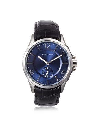 56% OFF Cross Men's CR8009-03 Helvetica Black/Blue Stainless Steel Watch