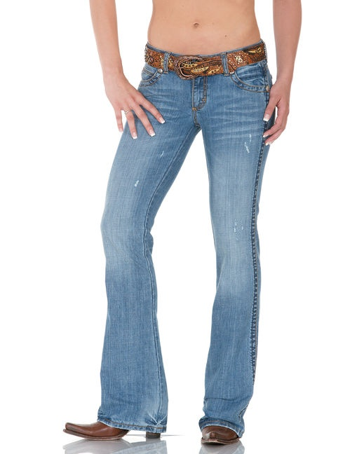 I love skinnys but they just won't do for cowgirl boots! These are more like it.