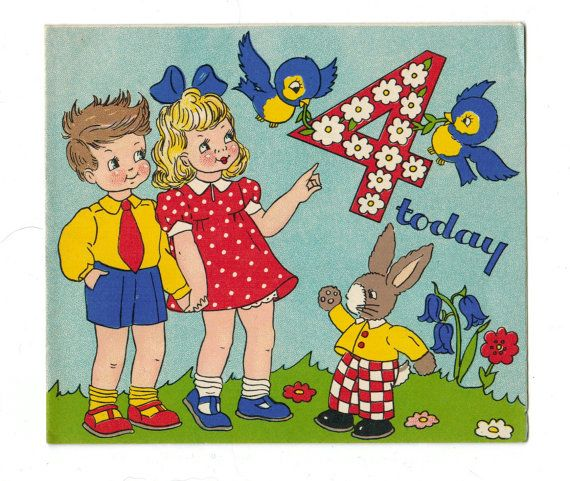 1072 best images about Vintage Childrens Birthday Cards on – Birthday Cards for Little Boys