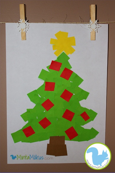Easy christmastree project for the very little ones - with free pattern