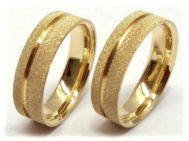 Aliança de casamento – em ouro (Foto: Divulgação)