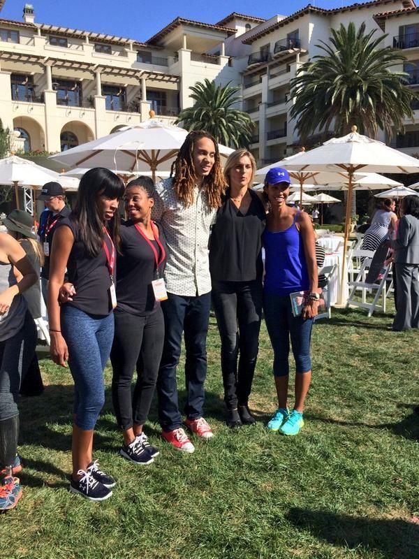 Cari Champion, Jemele Hill, Brittney Griner, Gabby Reese and Sage Steele #espnWsummit