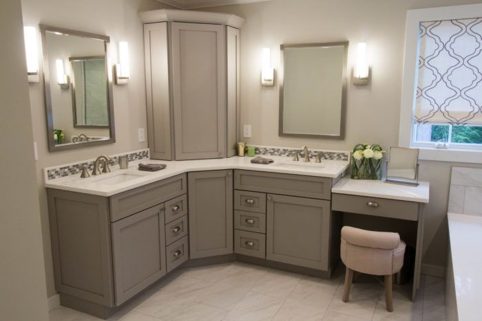 Shaker Maple Shade Corner Bathroom Vanity Master Bathroom