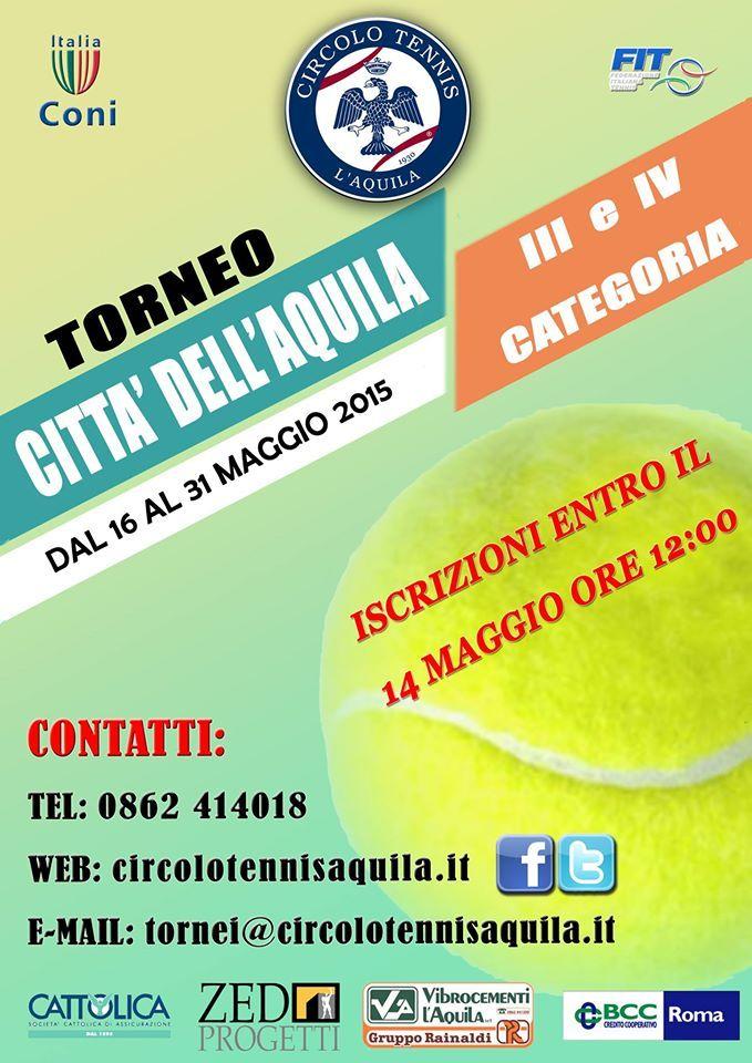 """De Berardis e Taborra vincono il Torneo di Tennis """"Città dell'Aquila"""""""
