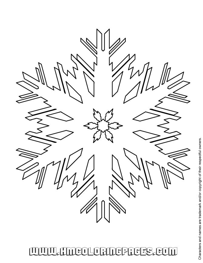 6 Best Images Of Printable Snow Flakes