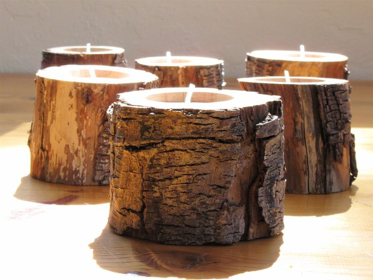 eco friendly home decor Decor Suggestions  Rustic Driftwood Candle Holders