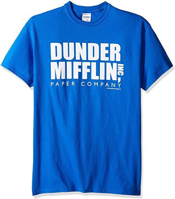 Tline Men S The Office Tv Series Dunder Mifflin Logo Graphic T