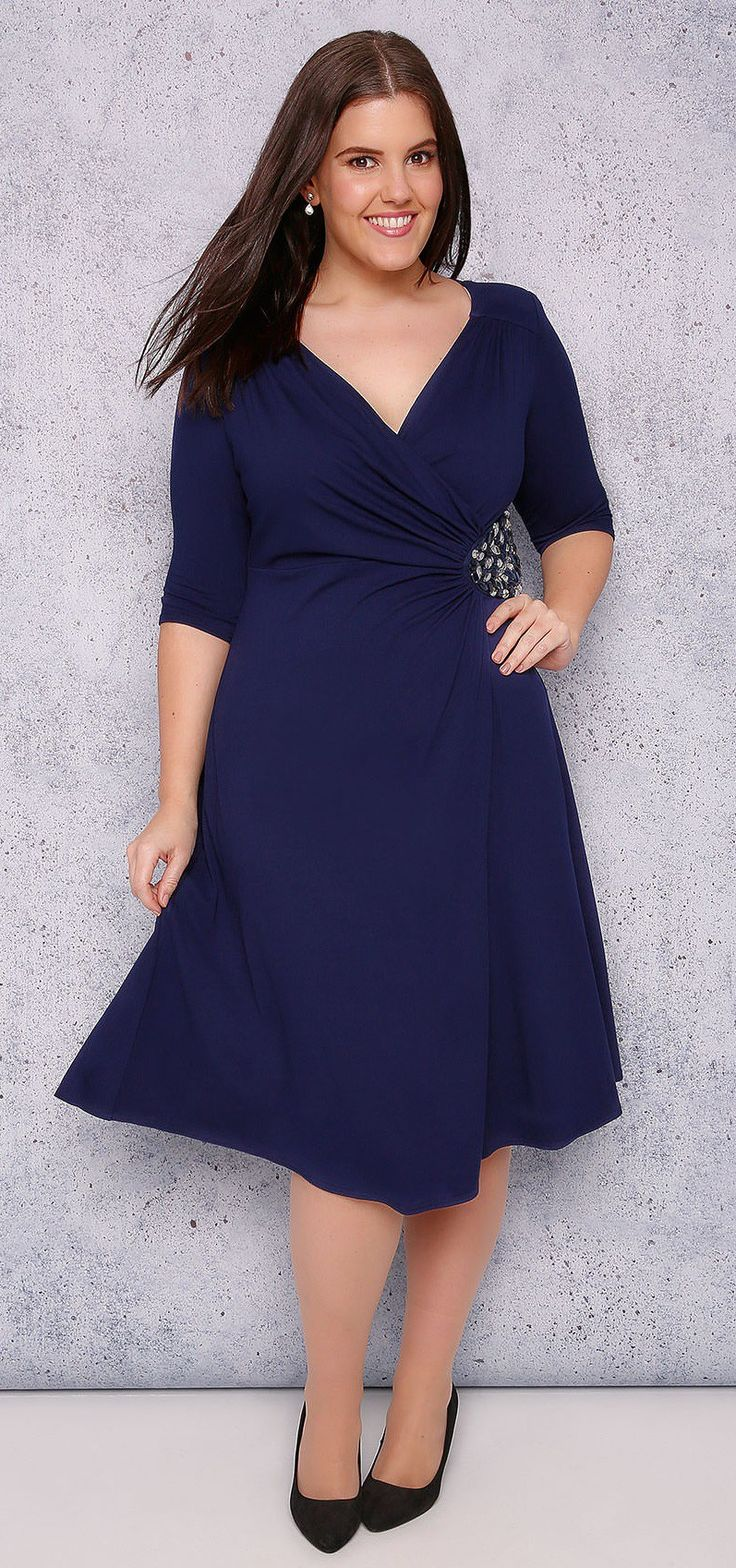 Best 25 plus size teacher ideas on pinterest curvy for Plus size dress for wedding guest