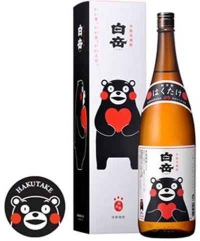 くまモンとコラボした米焼酎「白岳1800 ml くまモン一升瓶」 http://entabe.jp/news/article/3208
