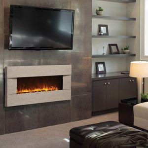 Concrete surround - electric fireplace - Artisan line ...