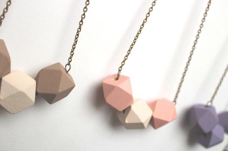 Geometric necklace wood beads purple | Jewelry Accessories | nikki Dotti #inspiration #fashion