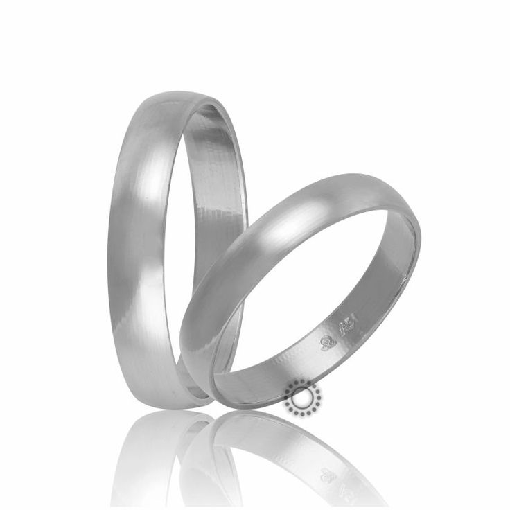 Βέρες γάμου Στεργιάδης HR2A-W | Κλασικές βέρες από λευκόχρυσο σε ιδιαίτερα χαμηλό ύψος | ΤΣΑΛΔΑΡΗΣ E-shop #βέρες #βερες #γάμου #λευκές